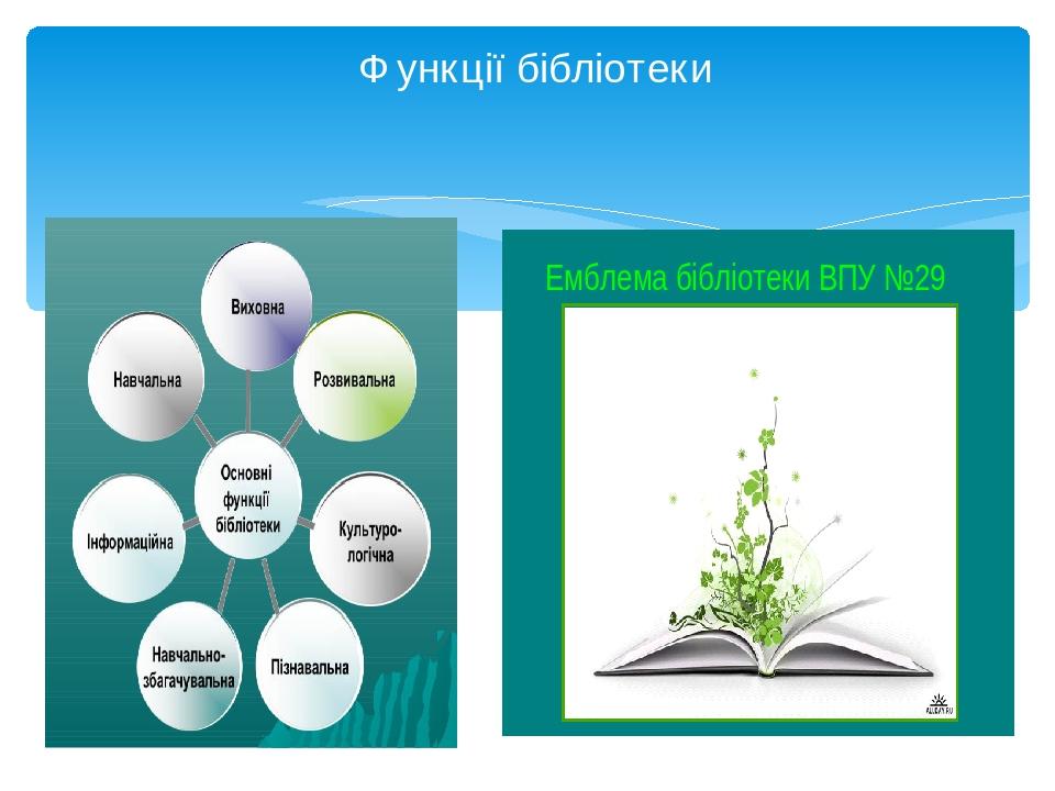Функції бібліотеки