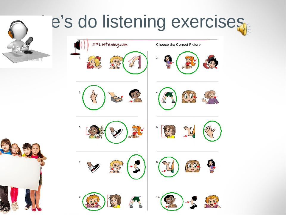 Le's do listening exercises