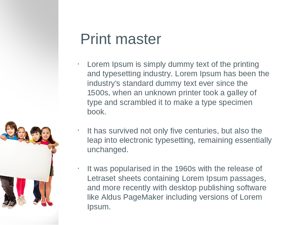 Print master Lorem Ipsum is simply dummy text of the printing and typesetting industry. Lorem Ipsum has been the industry's standard dummy text eve...