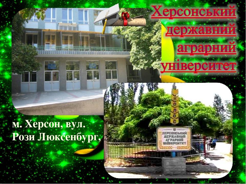 м. Херсон, вул. Рози Люксенбург, 23 ,