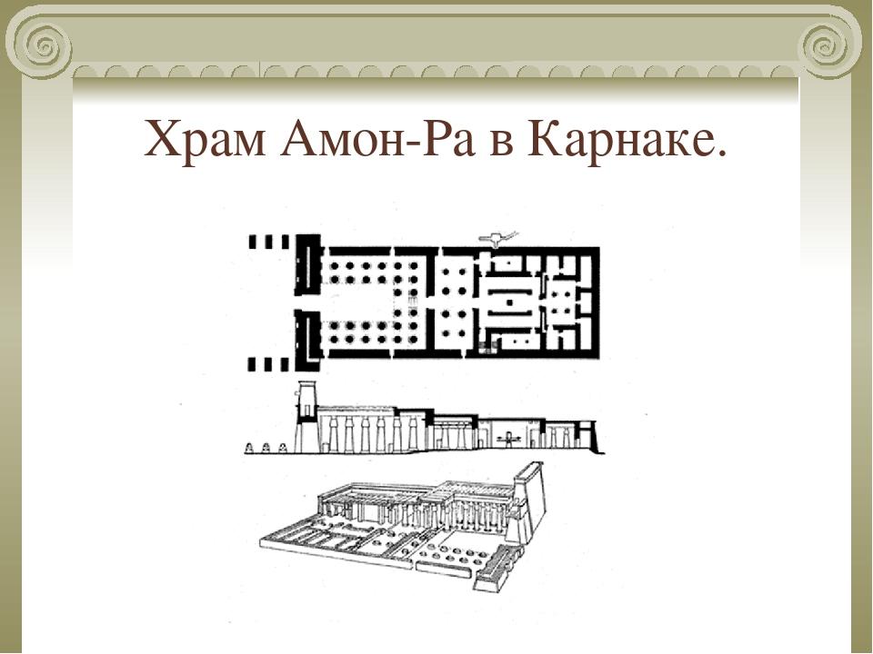 Храм Амон-Ра в Карнаке.