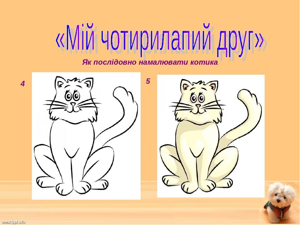 4 5 Як послідовно намалювати котика
