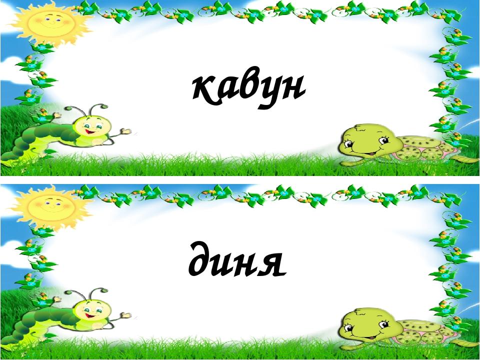 кавун диня