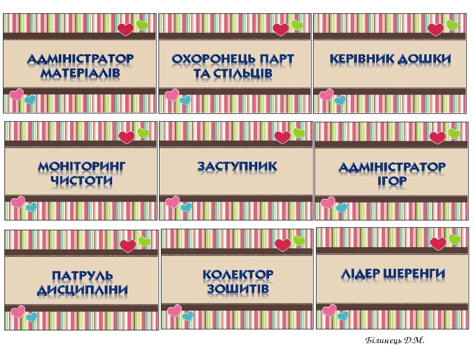 Білинець Д.М.