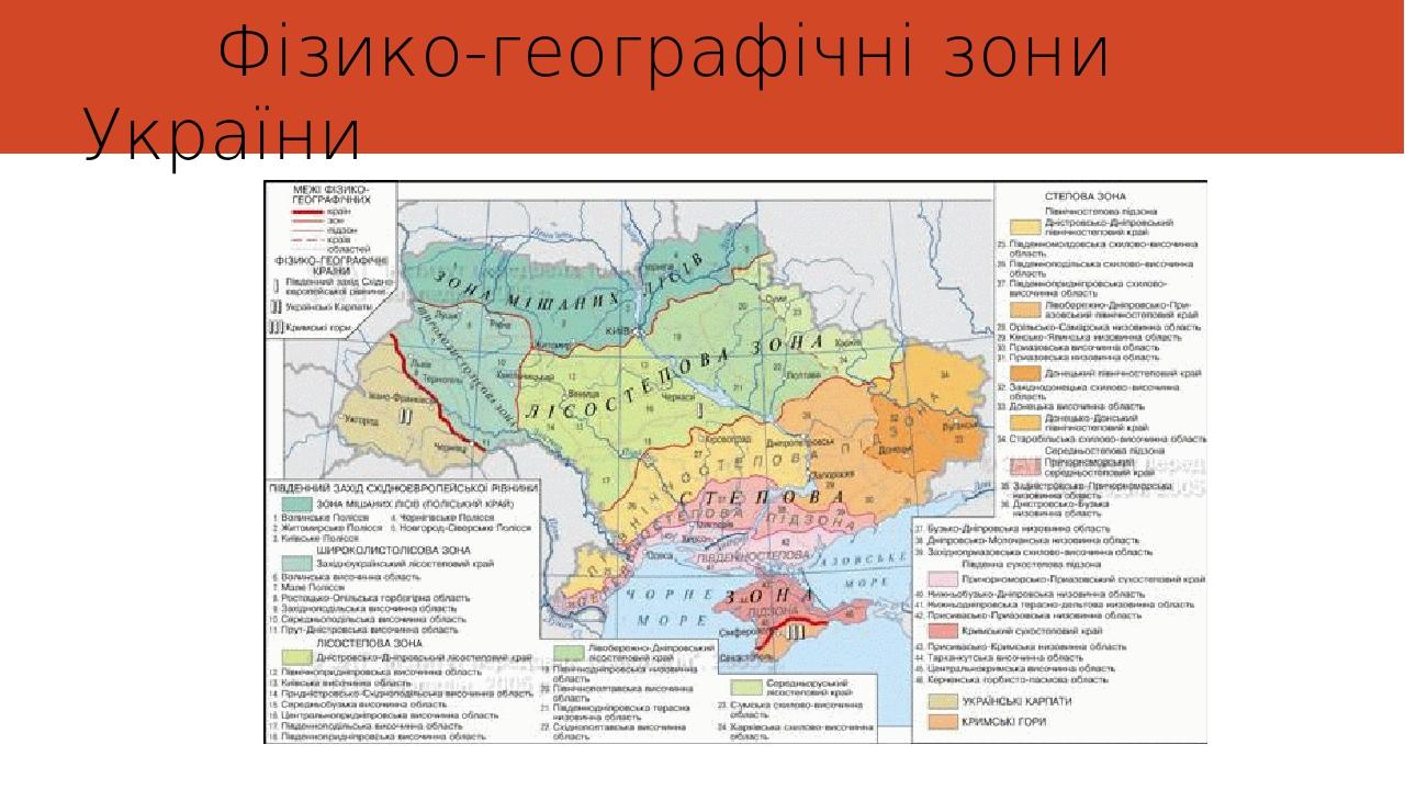 Фізико-географічні зони України
