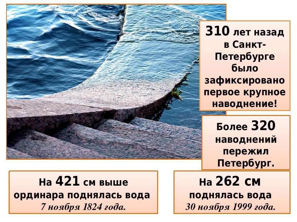 310 лет назад в Санкт-Петербурге было зафиксировано первое крупное наводнение! На 421 см выше ординара поднялась вода 7 ноября 1824 года. Более 320...