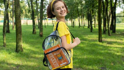 Зображення товару: Прозорий рюкзак-стиляга