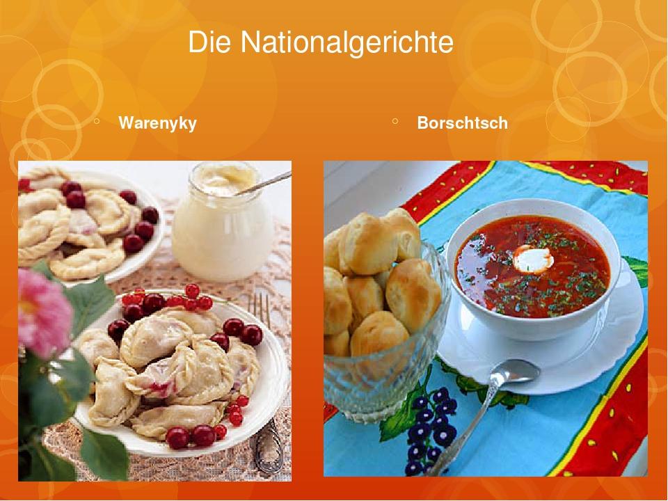 Die Nationalgerichte Warenyky Borschtsch