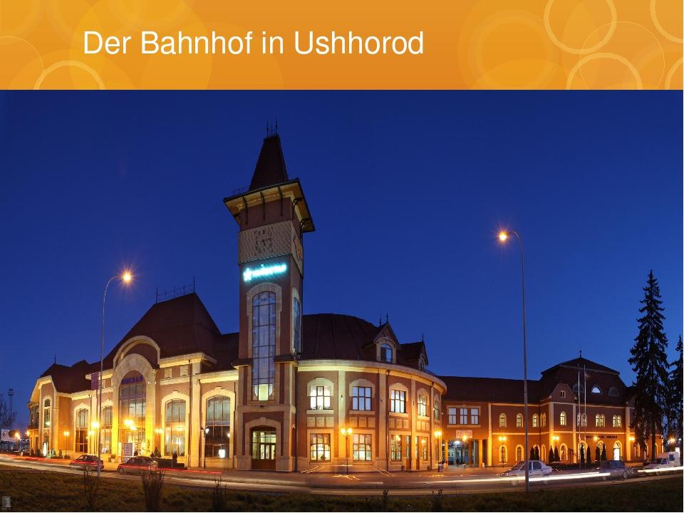 Der Bahnhof in Ushhorod
