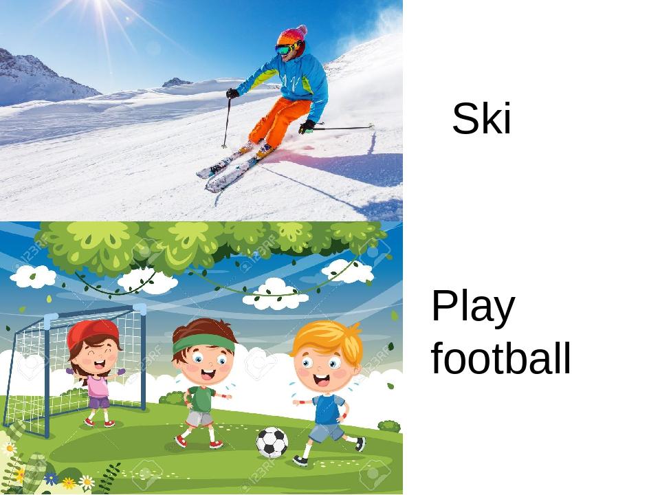 Ski Play football