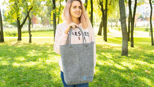 Зображення товару: Фетрова сумка-шопер на кожен день