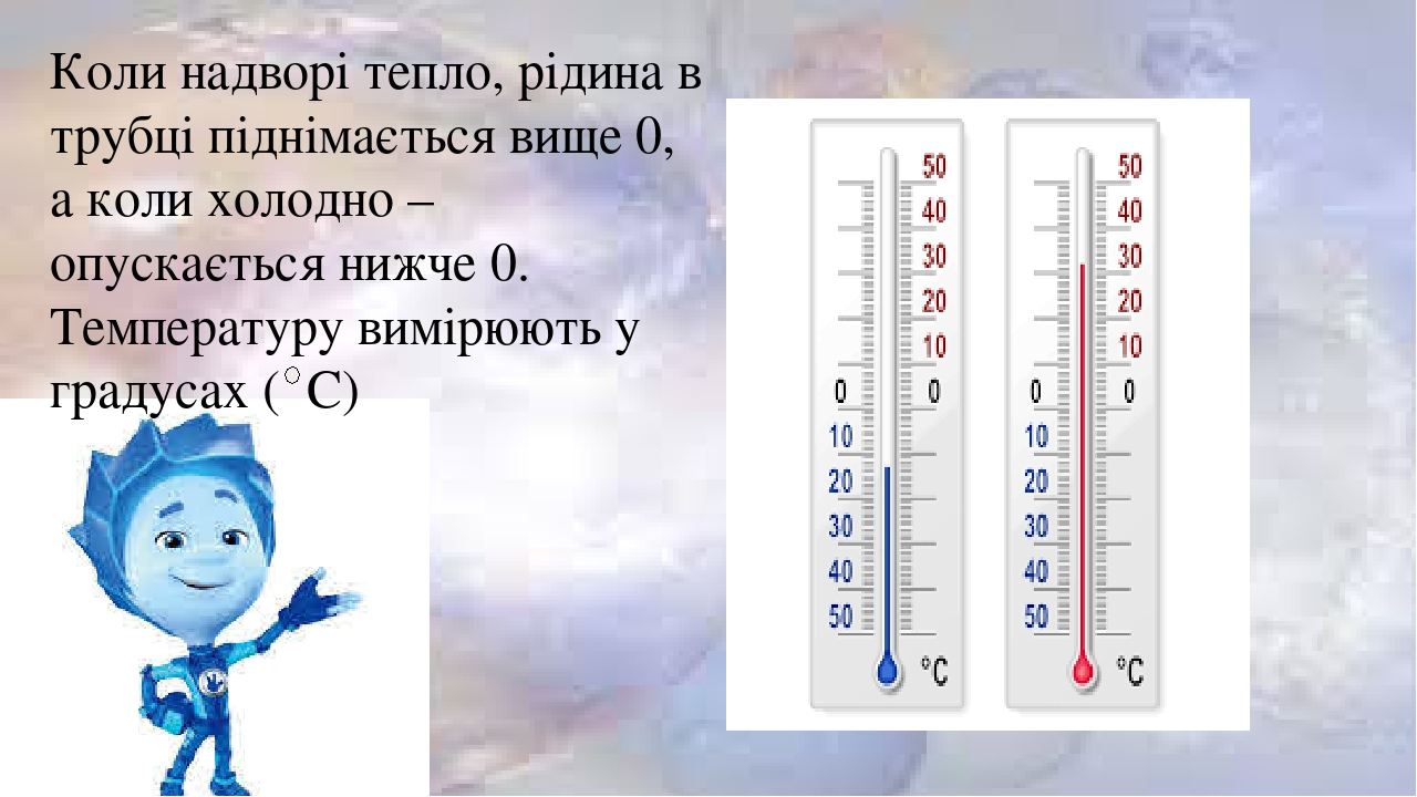 """Презентація до уроку Я досліджую світ 2 клас НУШ на тему: """"Термометр.  Різновиди термометрів"""""""