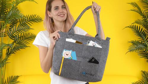 Зображення товару: Фетрова сумка зі зручними ручками