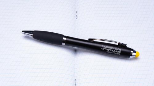 Зображення товару: Ручка-стилус «Знання – моя суперсила» з підсвіткою