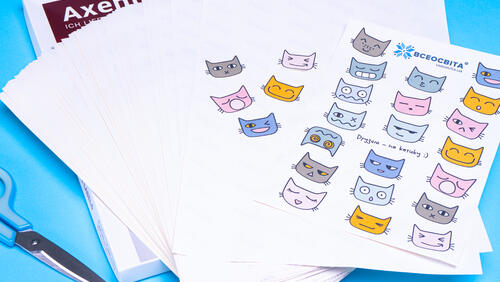 Зображення товару: Папір на клейовій основі 100 аркушів А4