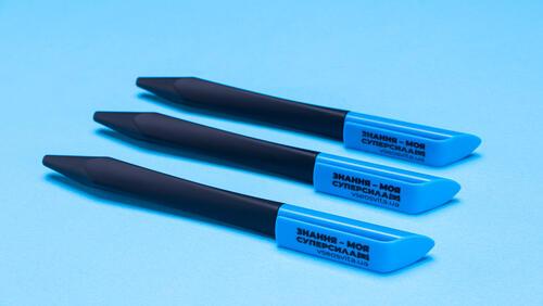 Зображення товару: Ручка  «Знання – моя суперсила⚡» зі softtouch покриттям