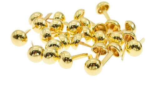 Зображення товару: Брадси круглі міцні 6х12 мм, золотого кольору – 20 штук