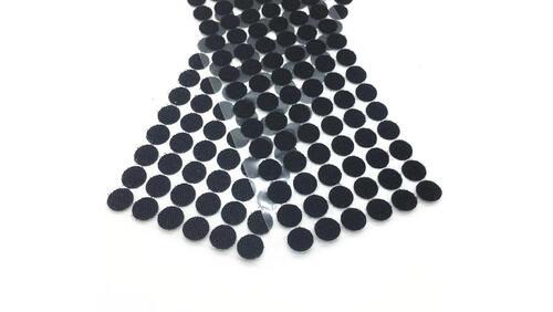 Зображення товару: Липучки круглі на клейовій основі, чорного кольору. 15 мм – 100 пар.