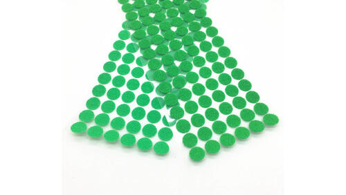 Зображення товару: Липучки круглі на клейовій основі, зеленого кольору. 15 мм – 100 пар.