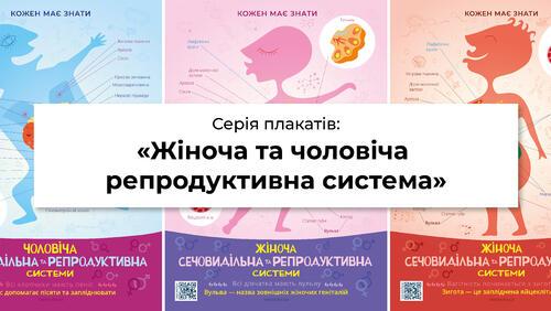 Зображення товару: Комплект плакатів «Кожен має знати: репродуктивна система людини»