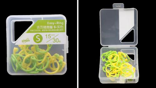 Зображення товару: Кільце пластикове 15 мм – 30 штук, жовтий з зеленим