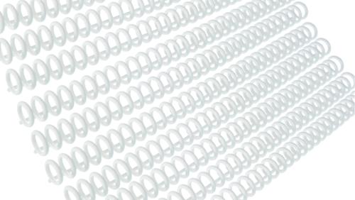 Зображення товару: Пластина з кільцями для створення блокнотів, 30 отворів, білий колір
