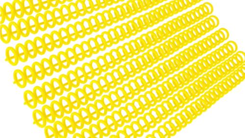 Зображення товару: Пластина з кільцями для створення блокнотів, 30 отворів, жовтий колір