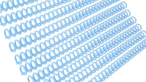 Зображення товару: Пластина з кільцями для створення блокнотів, 30 отворів, блакитний колір