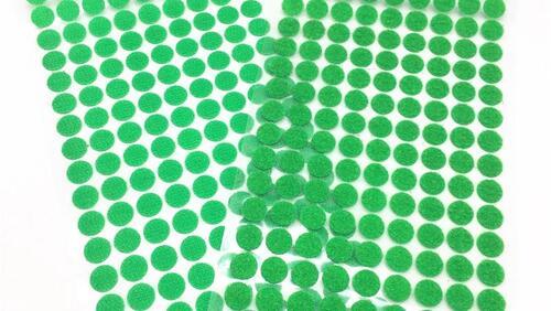 Зображення товару: Липучки круглі на клейовій основі, зеленого кольору. 10 мм – 99 пар.